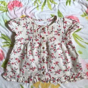 Zara 9-12M shirt EUC